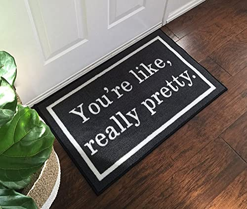 Crystal Emotion You re Like Really Pretty Welcome Door Mat