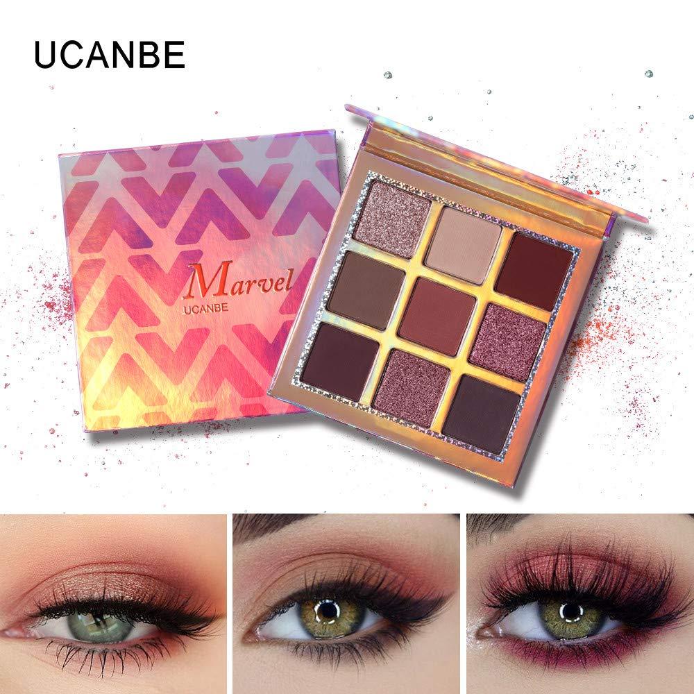 Best Pro Eyeshadow Palette, QHJ Makeup - Matte + Shimmer 9 Colors - Highly Pigmented - Professional Waterproof Eye Shadows