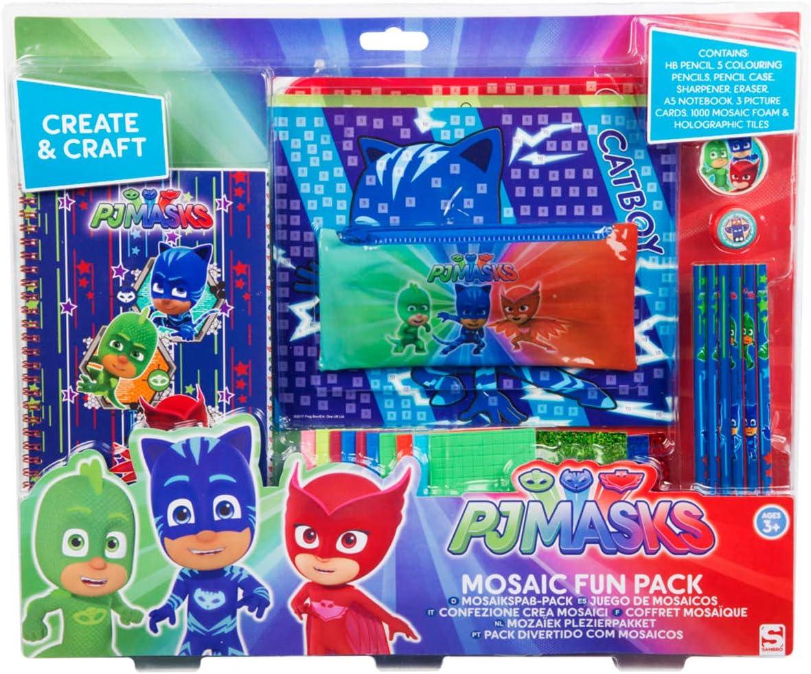 Sambro- PJ Mask Juego para Crear Mosaicos, Color Rojo/Verde ...