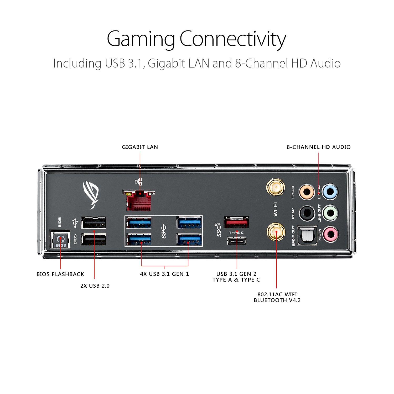 ASUS ROG STRIX X299-E GAMING LGA2066 DDR4 M.2 USB 3.1 802.11AC WIFI X299 ATX Motherboard for Intel Core X-Series Processors
