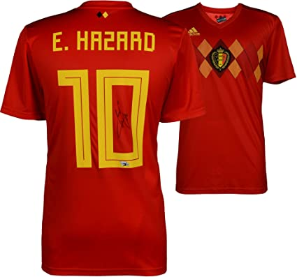 Eden Hazard Belgium Autographed 2018 Red Home Jersey - Fanatics Authentic  Certified - Autographed Soccer Jerseys at Amazon s Sports Collectibles Store a2189c2a5