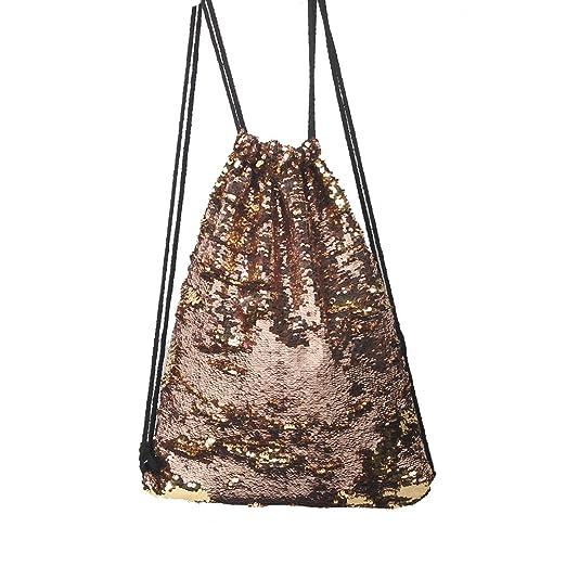 5c69988f09 Reversible Sequins Mermaid Bag Sport Shoulder Drawstring Backpack Bling  Shining