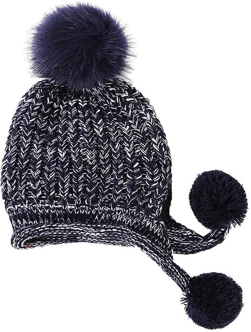 5d42837ee29 Ababalaya Women s Winter Warm Thick Fleece Knit Pom Pom Waterproof Earflap  Beanie Ski Cap
