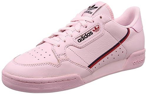 Amazon.com: adidas Originals Continental 80 US 11 Pink/Red ...