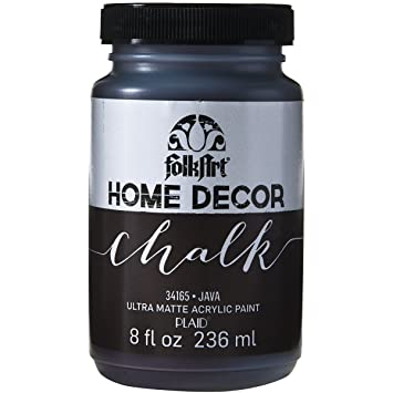 Folk Art Home Decor Chalk Paint 8oz Java Folk Art Home Decor Chalk