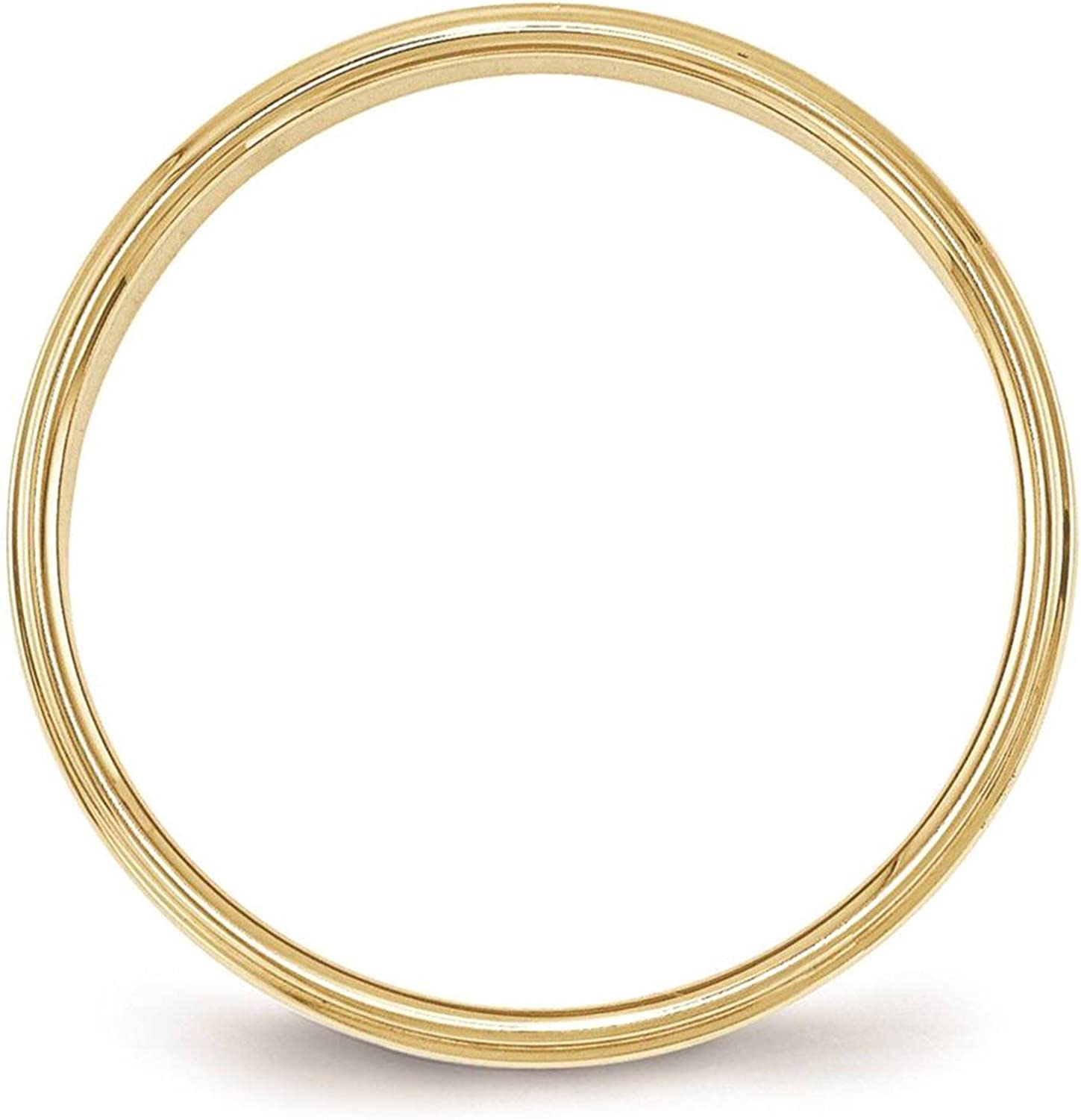 Full /& Half Sizes 10k Yellow Gold 6mm Flat with Step Edge Wedding Ring Band Size 4-14