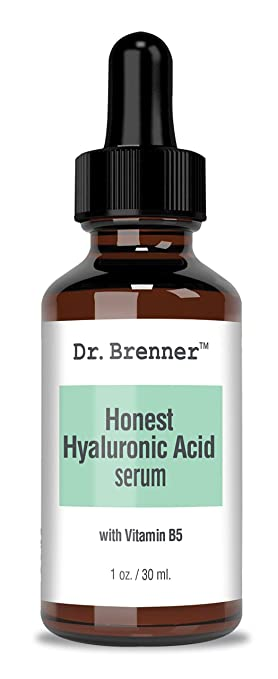 Hyaluronic Acid Serum for Skin, Made with 100% Pure Hyaluronic Acid, Plumping Anti-Aging HA Serum With Vitamin B5 1 oz. by Dr. Brenner