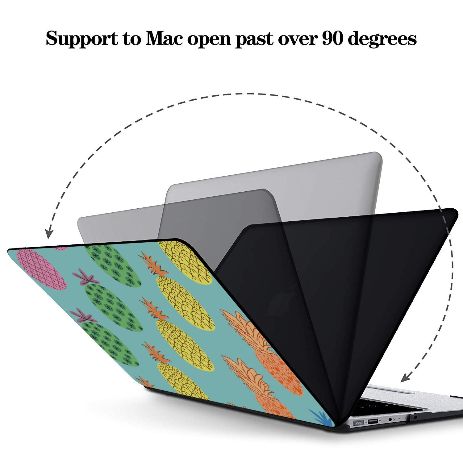 Case MacBook Air 13 Summer Fashion Cute Fruit Pineapple Plastic Hard Shell Compatible Mac Air 11 Pro 13 15 13 MacBook Case Protection for MacBook 2016-2019 Version