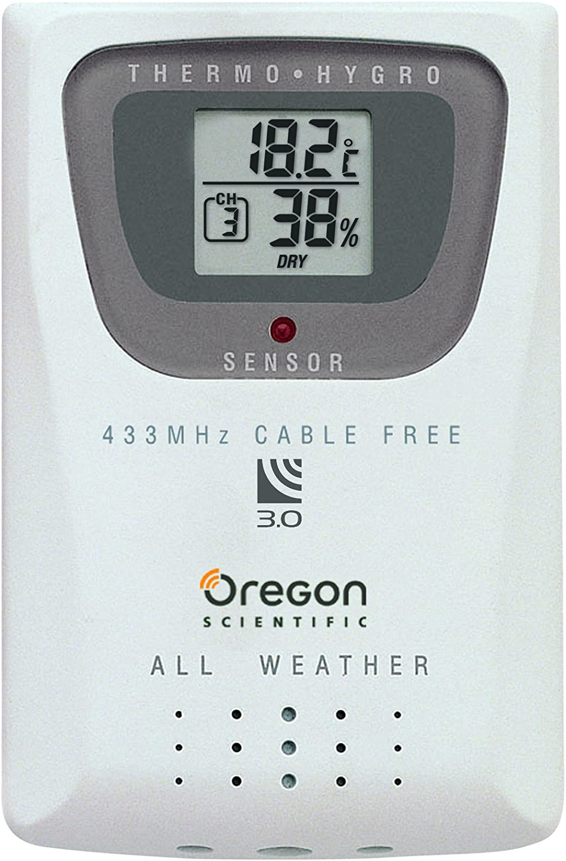 Oregon Scientific Thermo-//Hygro-Sensor Weiß 6.4 x 1.9 x 9.5