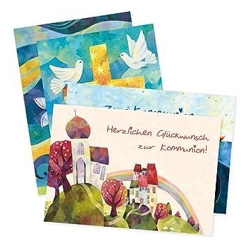 Juego de 4 tarjetas de felicitación para comunión de AURÉLIE ...