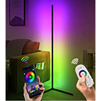"Corner Floor Lamp - Modern RGB Corner Lamp - 356 Mood Lighting Modes - Dimmable 20W LED Corner Lamp - 55"" Tall…"