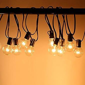 Guirnalda Bombillas Exteriores Luminosas - Cadena de Luces 7.4m 25 bombillas Cadena de Luz, Perfectas para Decorar Halloween, Navidad, Festivales, Fiestas, Bodas, Cobertizos, Patios, Jardines, Pérgolas: Amazon.es: Iluminación