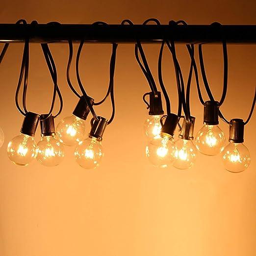 Guirnalda Bombillas Exteriores Luminosas - Glamouric 7,4m Cadena de Luz, Perfectas para Decorar