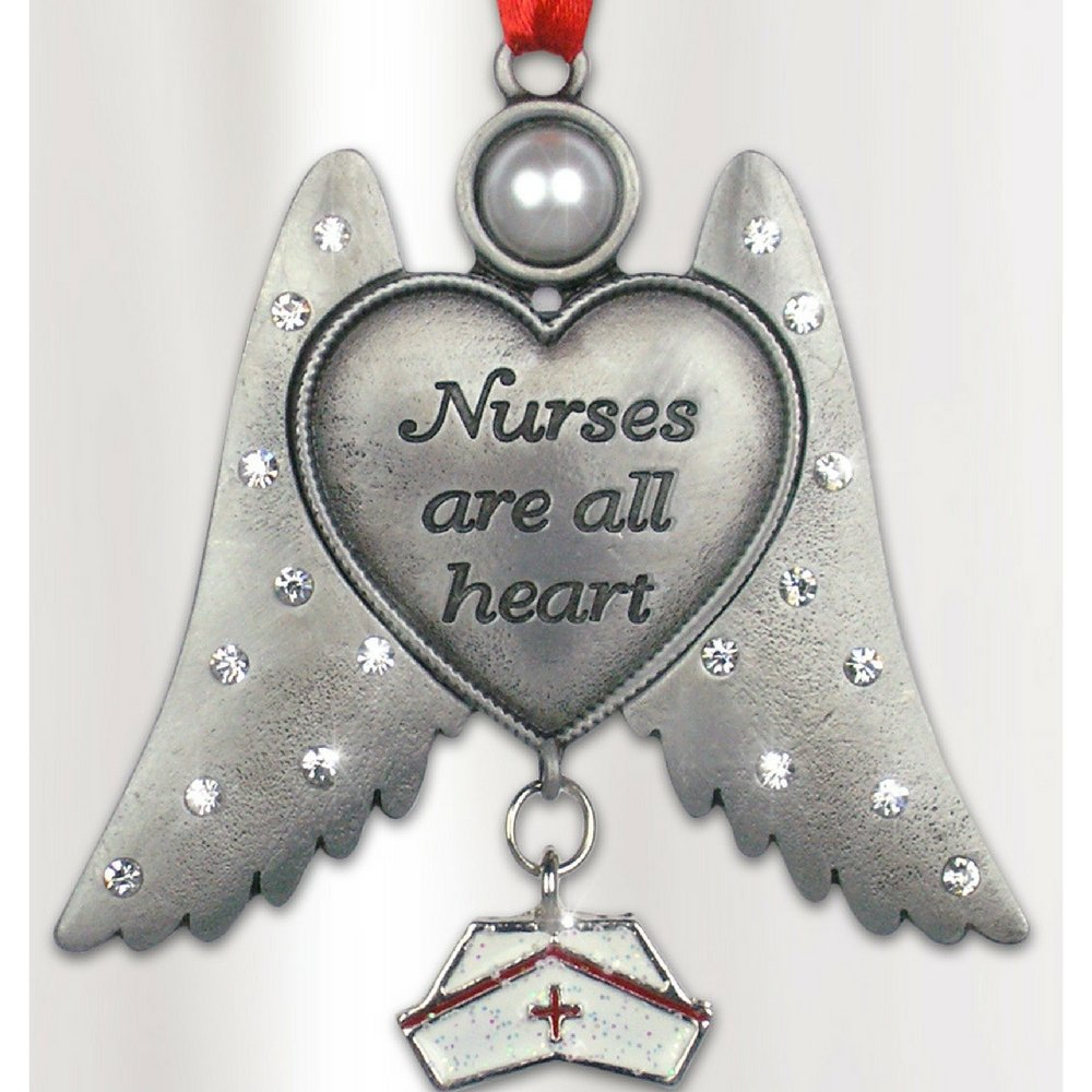 Nurse Angel - Nurses are all Heart Angel Ornament