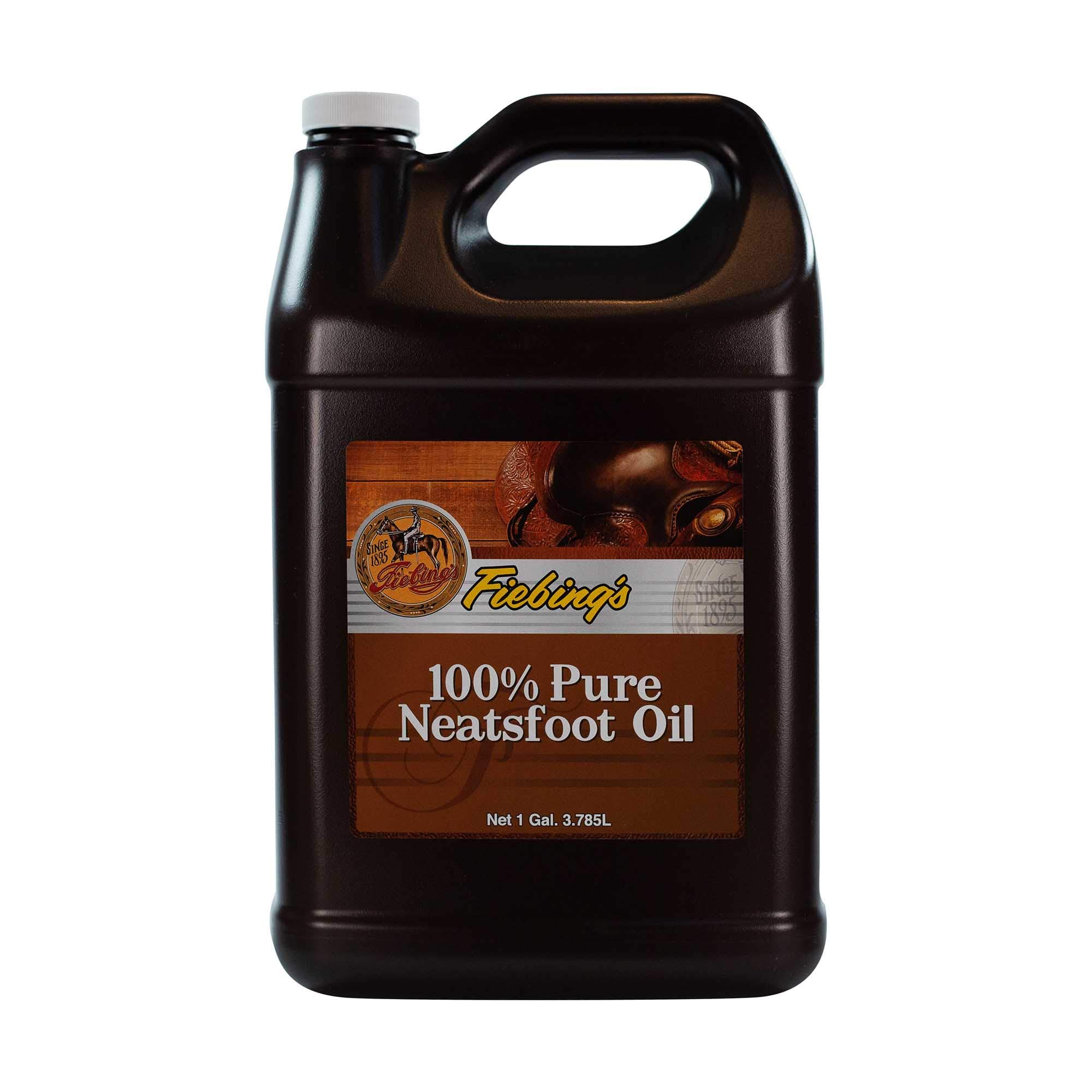 Fiebings - 100% Pure Neatsfoot Oil , Natural Preservative , Various Sizes, 1 Gallon