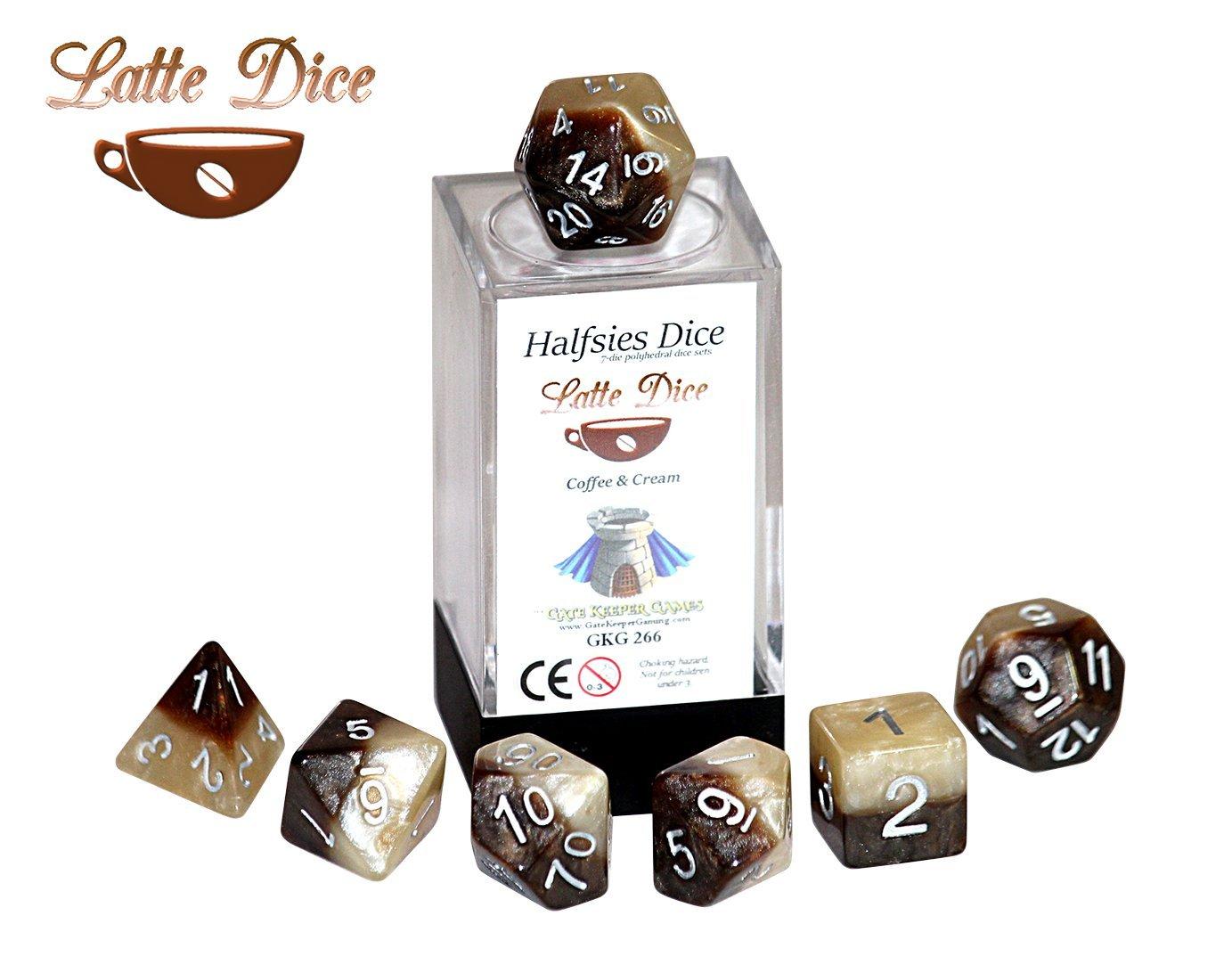 【新発売】 [ゲート キーパー ゲーム]Gate B01JJKBURI Keeper Cream Games Halfsies Latte Halfsies Dice 7 die polyhedral dice set Coffee & Cream GKG266 [並行輸入品] B01JJKBURI, 塗り丸:08bf88c3 --- arianechie.dominiotemporario.com
