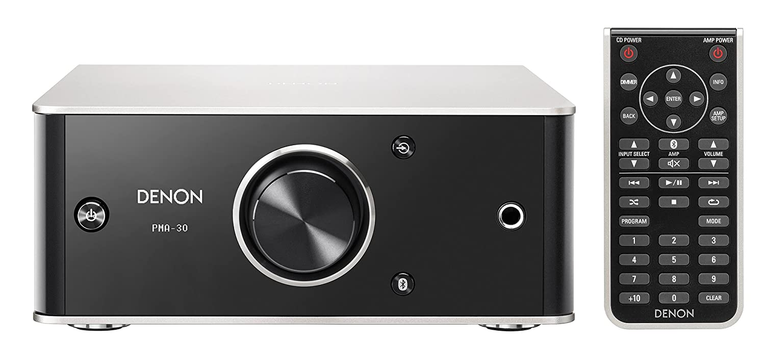 Denon PMA30SPE2 PMA-30 Design Series Amplificador Integrado (Bluetooth, Entrada Digital/analógica, 2 x 40W) Negro/Aluminio: Amazon.es: Electrónica