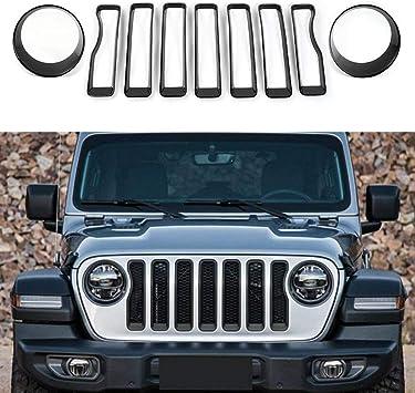 Fits 2018-2020 Jeep Wrangler JL Stainless Steel Billet Grille Insert