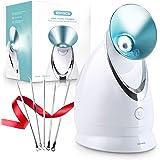 EZBASICS Facial Steamer Nano Ionic Face Steamer with Aromatherapy Design for Home Facial Warm Mist Humidifier Atomizer…