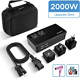 ECOACE 2000W Voltage Converter with 4 USB Ports,Set Down 220V to 110V Power Converter for Hair Dryer/Straightener /Curling Iron,International Travel Adapter for UK/AU/US/EU(Exclusive) (2000W-Upgraded)