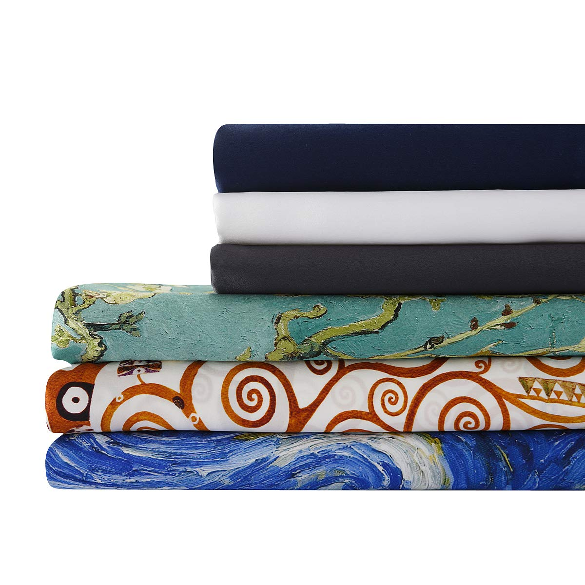 Starry Night 100/% seta di gelso 600/fili anallergica 19/momme ALASKA BEAR 50 x 75 cm federa per cuscino in seta naturale con cerniera nascosta Seta