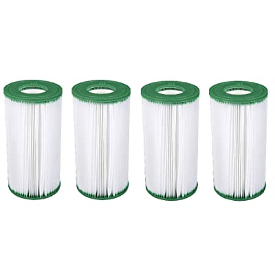Coleman Type III A/C 1000 & 1500 GPH Replacement Filter Pool Cartridge (4 Pack) : Garden & Outdoor