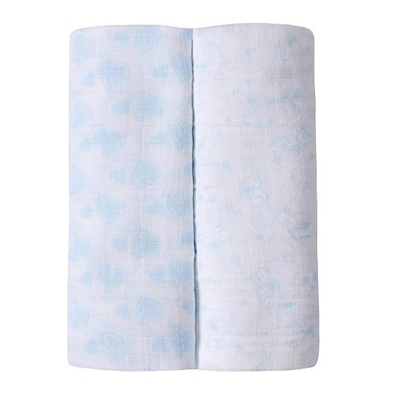 Lora Dora Paquete de 2 mantas de muselina unisex para bebés, niños ...