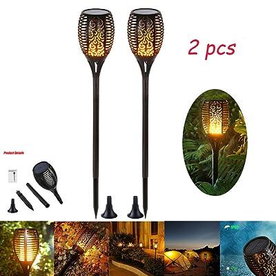 ... Lampe 96 Led Décorative Feu Imperméable Résistante Chaleur Eclairage  Exterieur Decoration Pour Jardin/Chemins/Yard/Patio/Deck/Noël/Mariage/Fête(2  Pack)