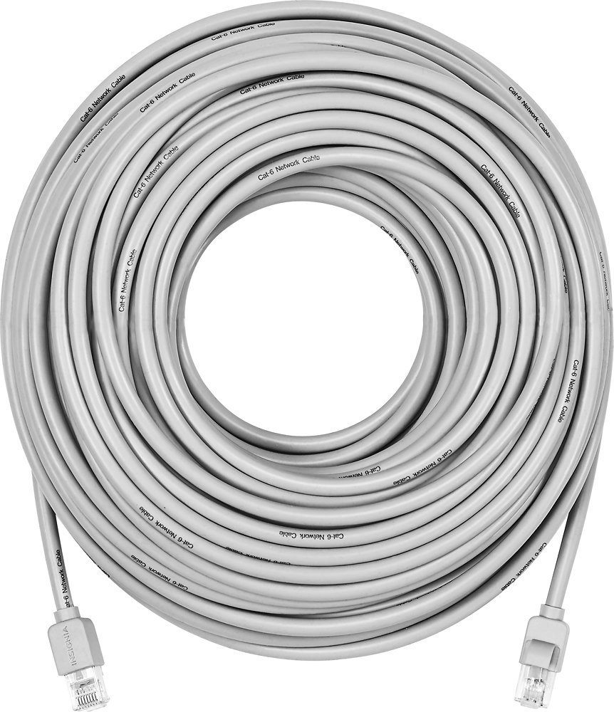 Insignia 100 Cat 6 Network Cable Gray Model Ns Cat6 Ethernet Wiring Pnw76c0 Computers Accessories