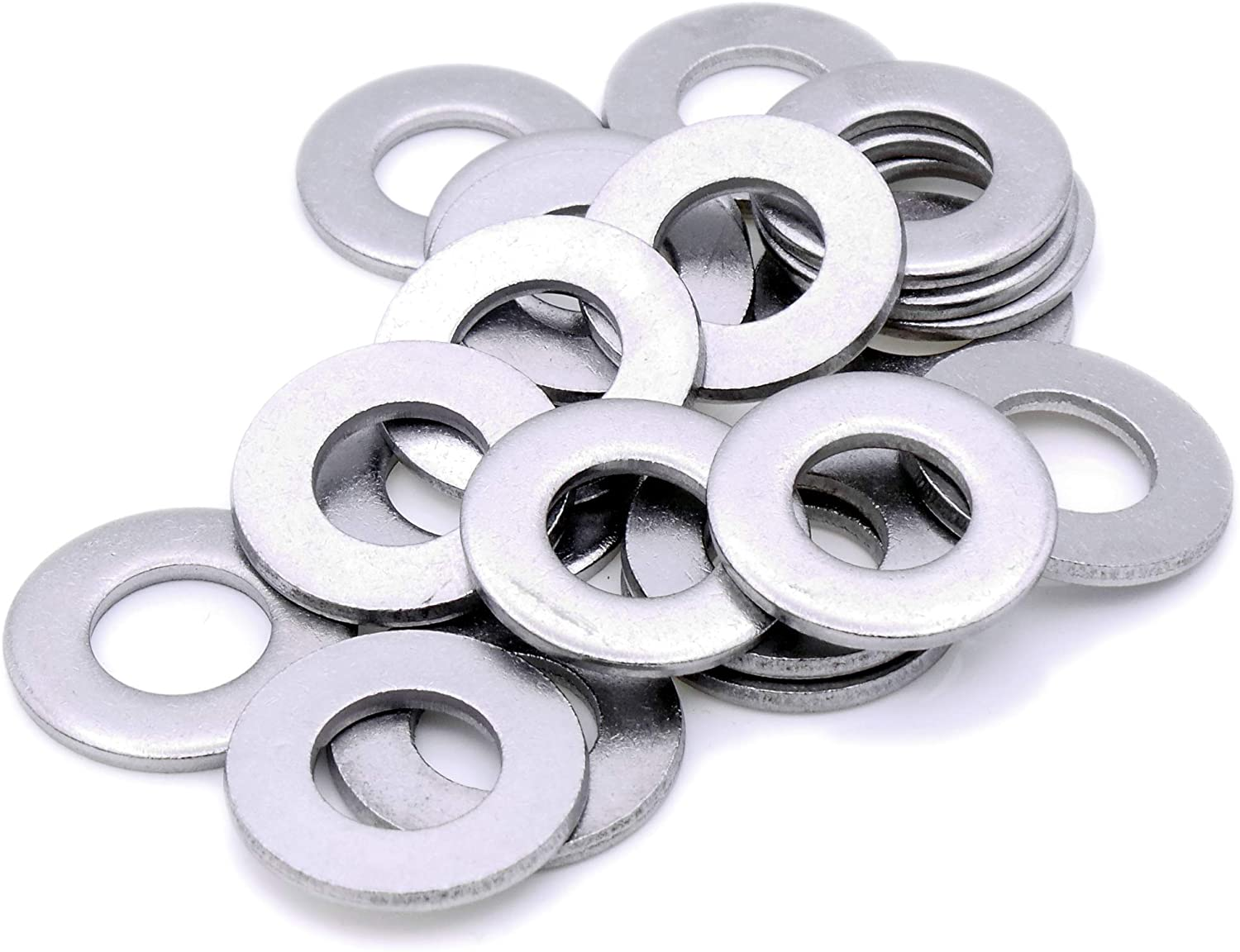 6mm M6 Flat Washer Heavy Duty A2 Pack of 20 - Stainless Steel
