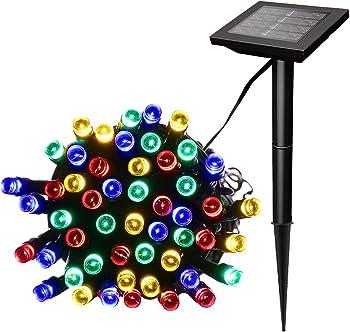 Sunnygalde 100 Led Multicolor Waterproof Solar String Lights