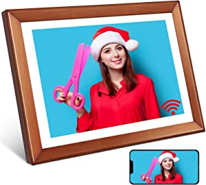 Digital Photo Frame,YENOCK 10.1 Inch WiFi Frame HD IPS LCD Touch Screen Display,16GB Storage,Share Photos Or Videos from Anywhere by Phone iOS Or Android App, Email,Facebook,Twitter