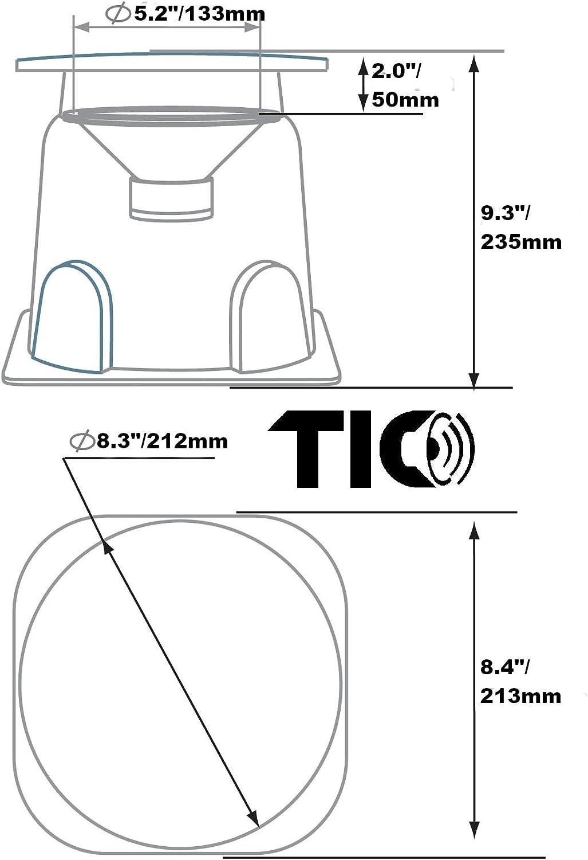 TIC B03 Premium 8 Outdoor Omnidirectional In-Ground Speaker Single