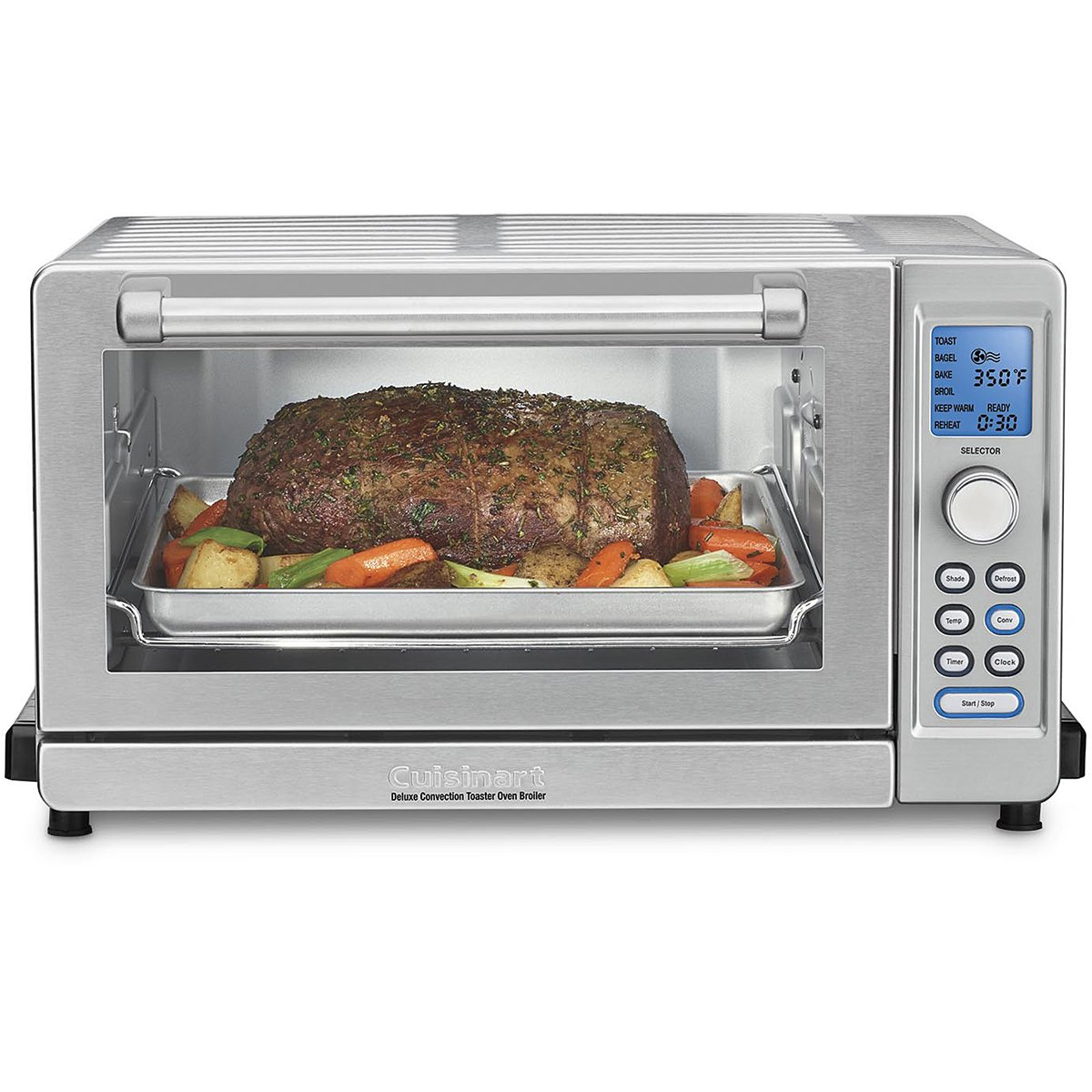 Cuisinart TOB-135 Deluxe Convection Toaster Oven Broiler, Brushed Stainless, 9.3