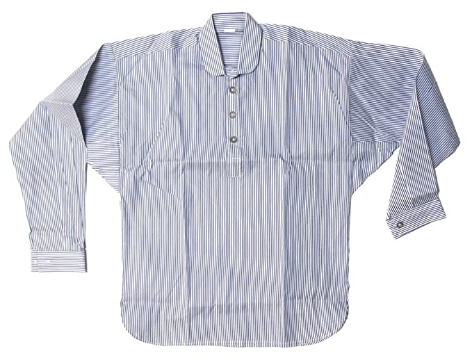 Victorian Men's Shirts- Wingtip, Gambler, Bib, Collarless Civil War Shirt Military Uniform Supply Reproduction Mens Striped $29.99 AT vintagedancer.com