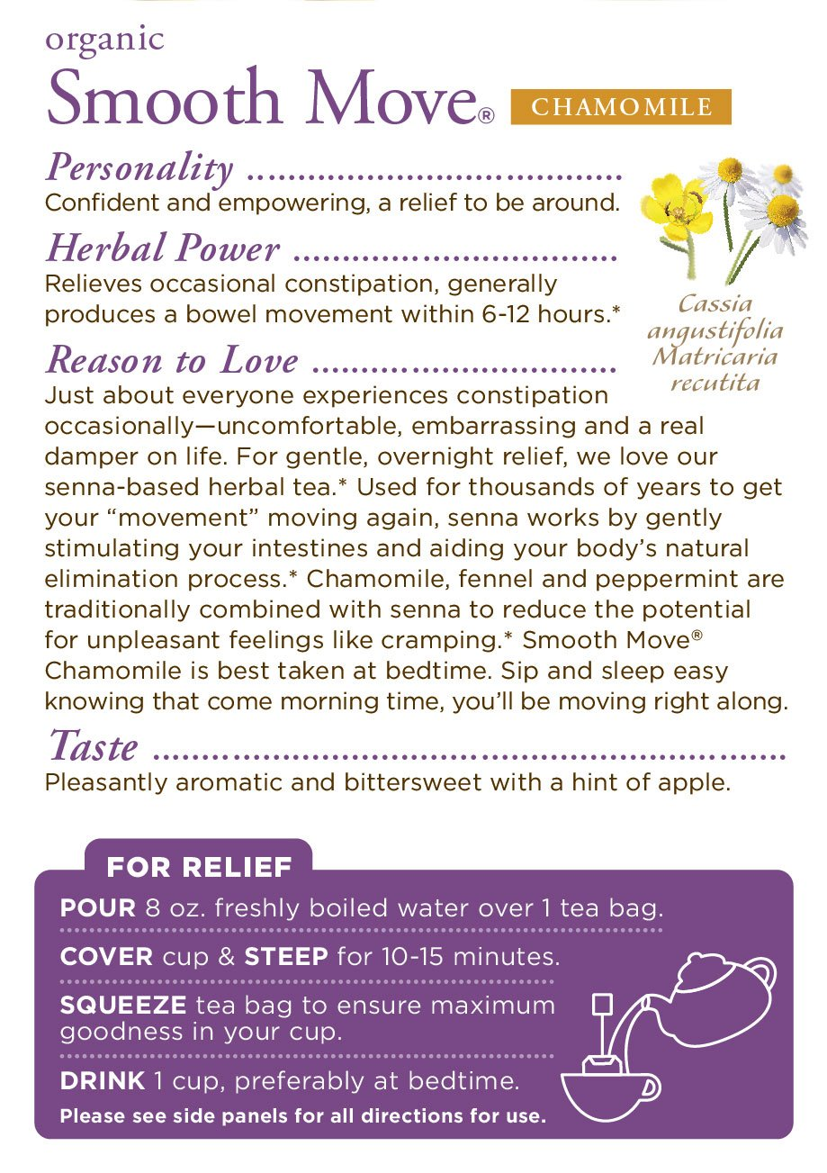 Traditional Medicinals Organic Smooth Move Chamomile 16 Ct: Health & Personal Care