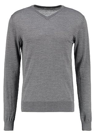 online store 34892 89839 KIOMI Pullover Herren mit V-Ausschnitt – 100% Merino Wolle – Strickpullover  in Grau o. Blau – Herrenpullover aus Strick/Feinstrickpullover
