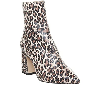 a86173e8c55 Office Alto- Pointed Block Heel Shape Leopard Snake Leather - 3 UK