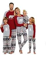 SESY Family Christmas Pajamas Mama/Little/Papa Bear Top & Fair Isle Bottoms