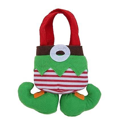 Honeysuck Calcetines calcetín de Pantalones de Elfo de Papá Noel Candy Bolsa