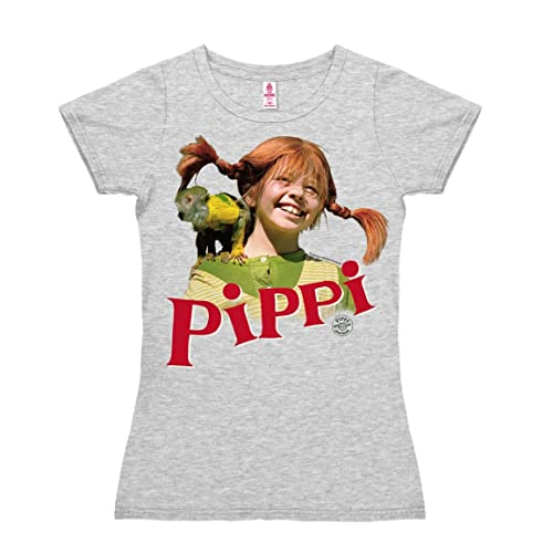 Logoshirt Camiseta para mujer Pippi Calzaslargas y Señor Nilsson - Pippi Långstrump and Herr Nilsson...