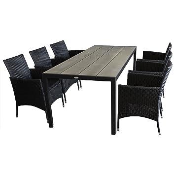 7 piezas. Muebles de Jardín Conjunto de jardín de - Mesa de jardín ...