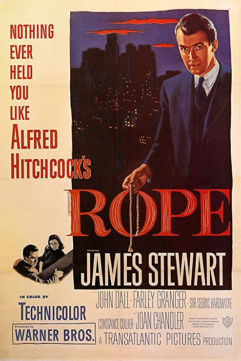 Amazon.com: American Gift Services - Rope Alfred Hitchcock James Stewart  Vintage Movie Poster - 24x36: Posters & Prints