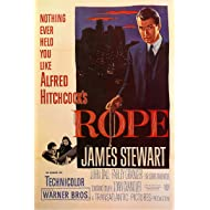 American Gift Services - Rope Alfred Hitchcock James Stewart Vintage Movie Poster - 24x36