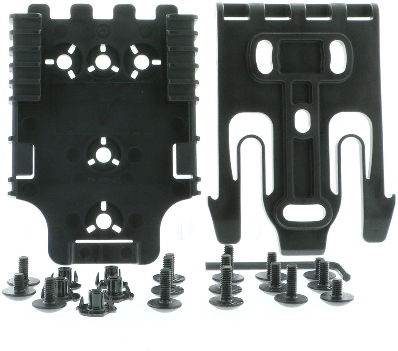 Safariland QLS Kit, (1 ea.) QLS 19 Fork & (2 ea.) QLS 22 Receivers Holsters, Black, Single Kit Only