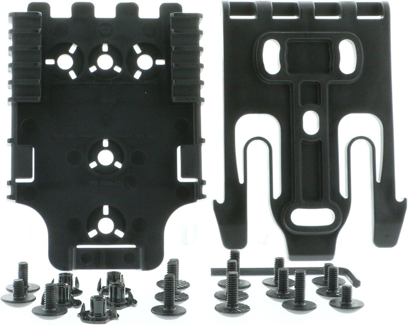 Safariland QLS Kit, (1 ea.) QLS 19 Fork & (2 ea.) QLS 22 Receivers Holsters, Black, Single Kit Only, One Size (1141786)