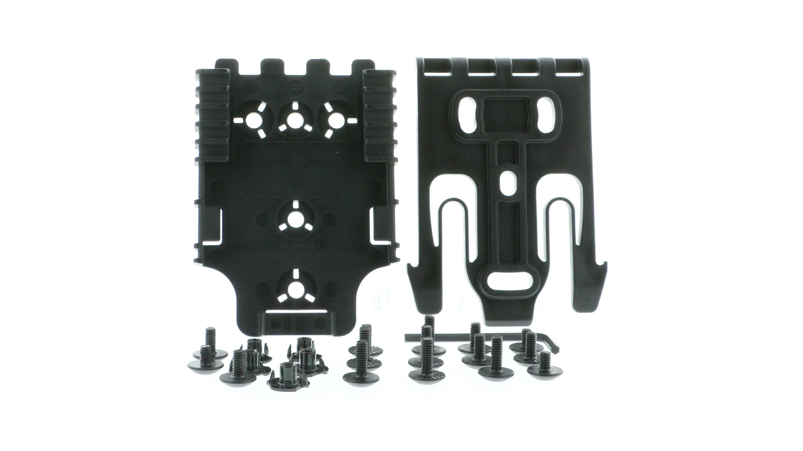Safariland QLS Kit, (1 ea.) QLS 19 Fork & (2 ea.) QLS 22 Receivers Holsters, Black, Single Kit Only by Safariland