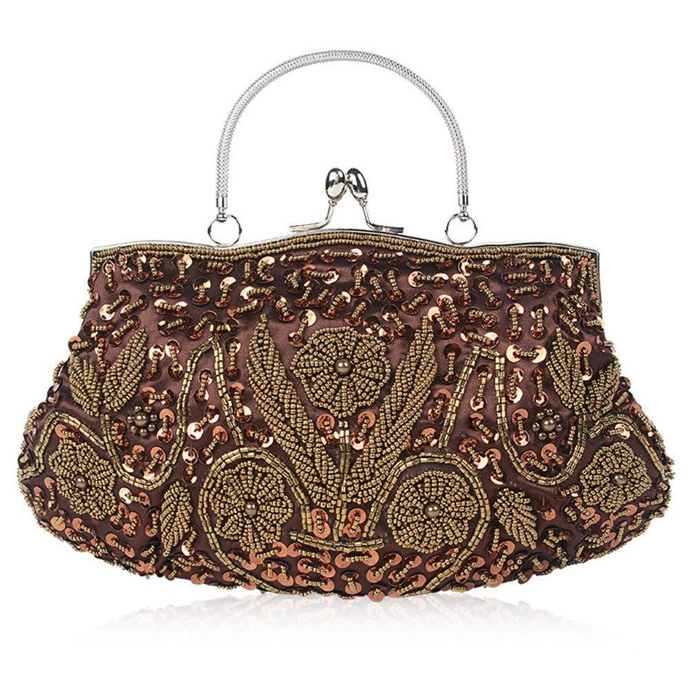 Yzibei Praktisch Frauen Strass Abend Clutch Handtasche Abend Handtaschen Diamant Perlen Abendtaschen Hart Geeignet Für Parteien (Farbe   Gold) B07H2851S3 Clutches Billig