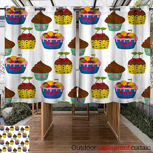 Cortina de Exterior para Patio, colección Vector de Flores, Ideal ...