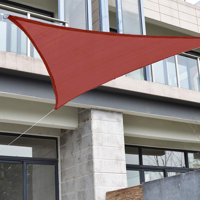 Garden EXPERT 10'x10'x14' Sun Shade Sail Red Right Triangle Canopy Sail Shade Cloth UV Block for Patio Garden Outdoor Backyard